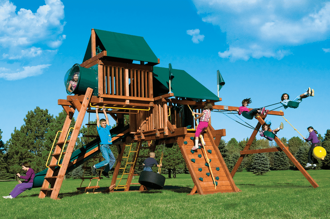 Rainbow Castle Pkg Iv Supersized 60d Rainbow Play Systems