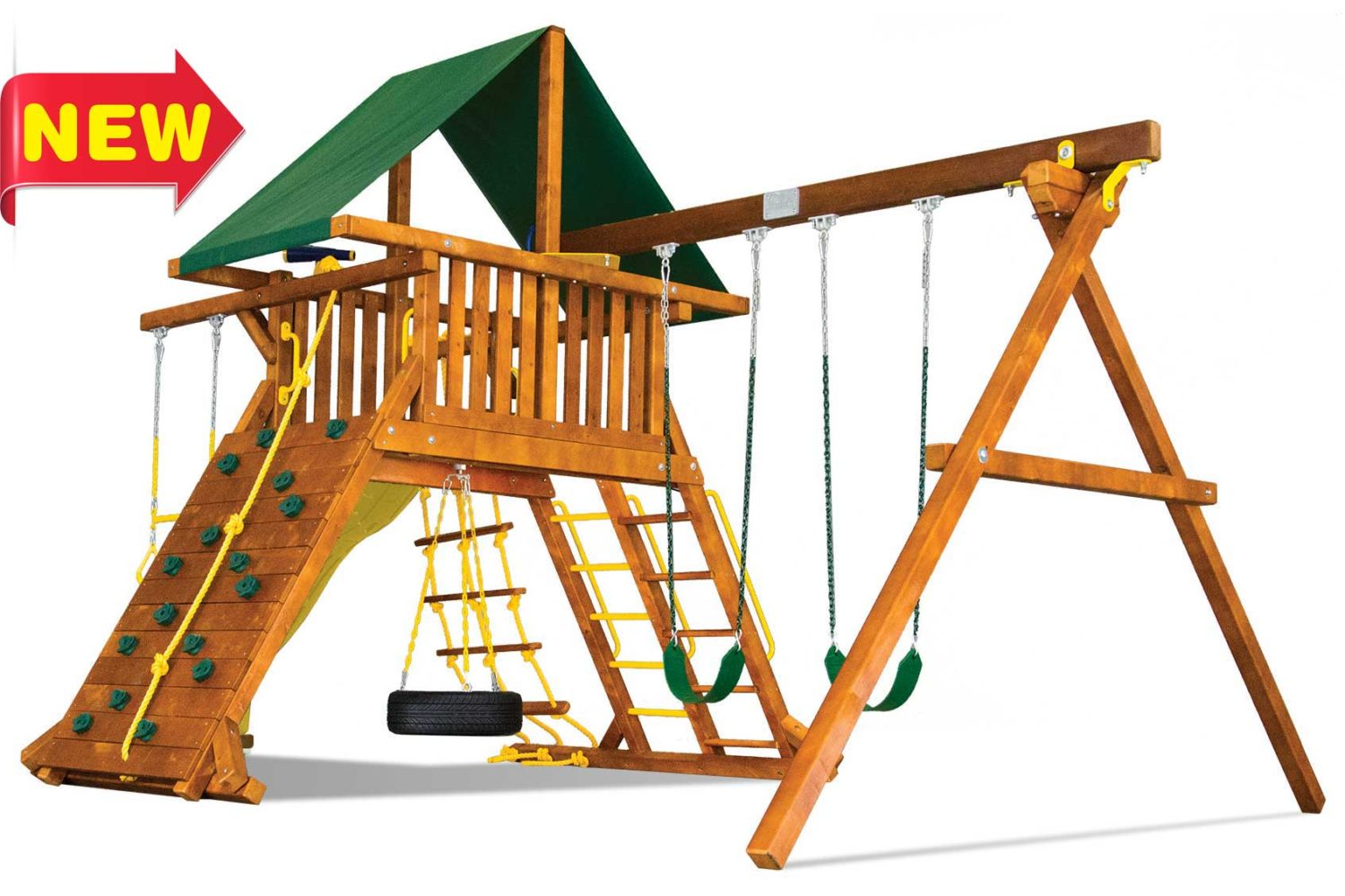 Circus Turbo Castle Pkg II Wooden Swing Set
