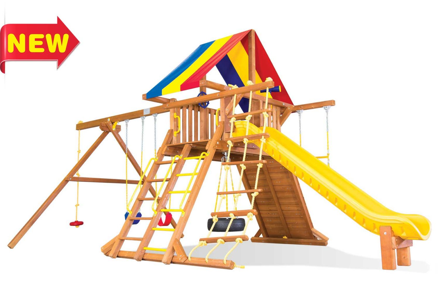 Circus Super Turbo Castle Pkg II Wooden Swing Sets