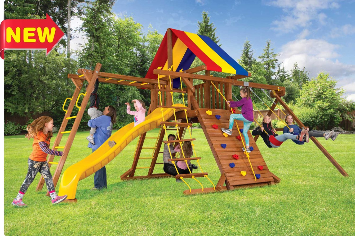 Circus Turbo Castle Pkg III with Monkey Bars Outdoor Playsets