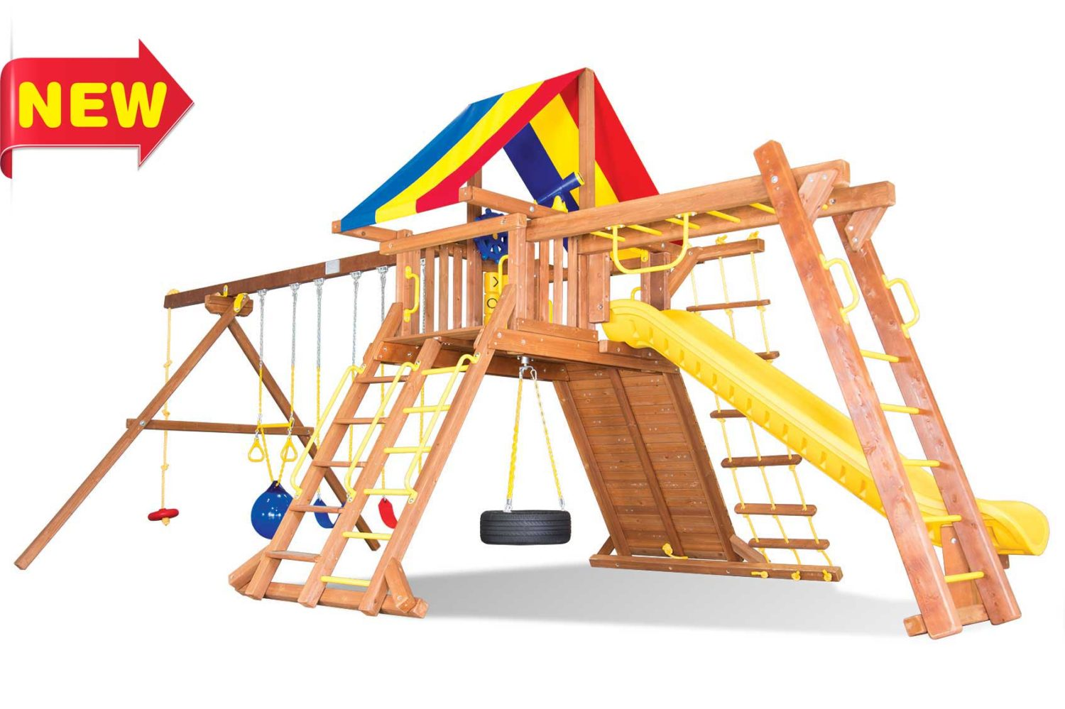 Circus Super Turbo Castle Pkg III Wooden Swing Sets