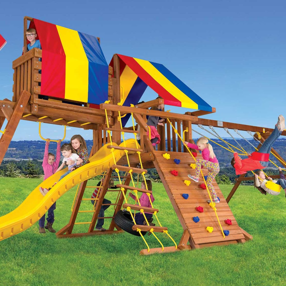 Circus Turbo Castle Pkg IV Wooden Swing Set