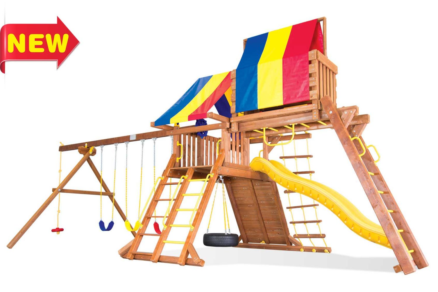 Circus Turbo Castle Pkg IV Wooden Swing Sets