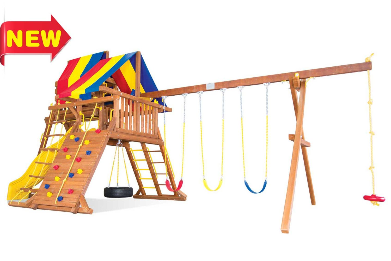 Circus Turbo Castle Pkg IV Wooden Swing Sets