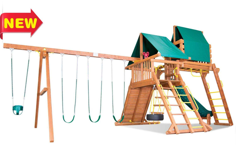 Circus Super Turbo Castle Pkg IV Wooden Swing Sets