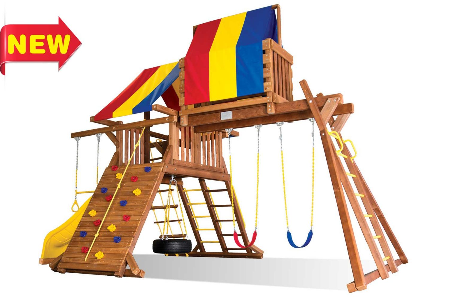 Circus Turbo Castle Wooden Swing Sets
