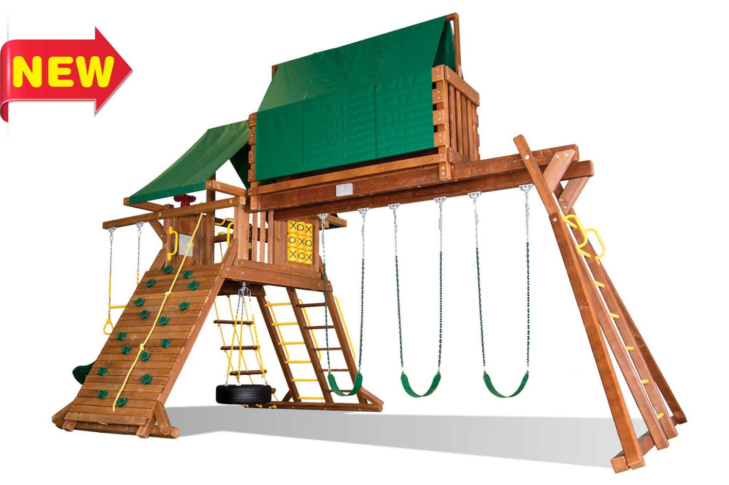 Circus Super Turbo Castle Wooden Swing Sets