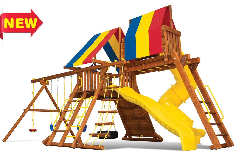 Circus Turbo Castle Pkg V Wooden Swing Sets