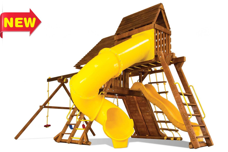 Circus Super Turbo Castle Pkg V Wooden Swing Sets