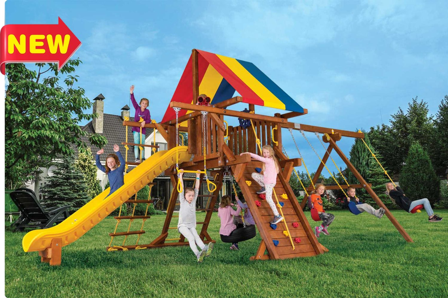 Sunshine Turbo Feature Castle Pkg II Outdoor Playset