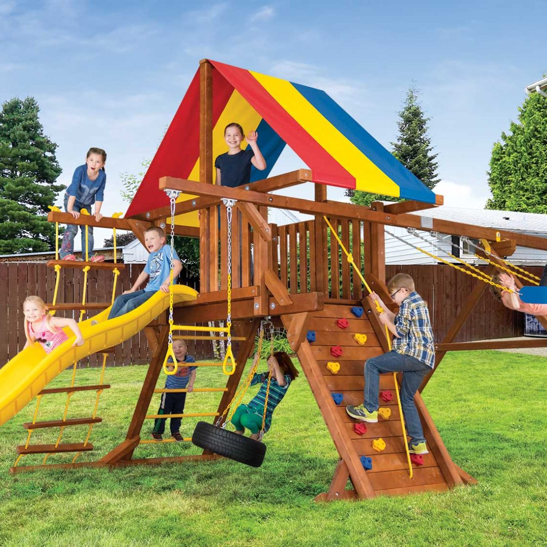 Sunshine Base Castle Pkg II Wooden Swing Set