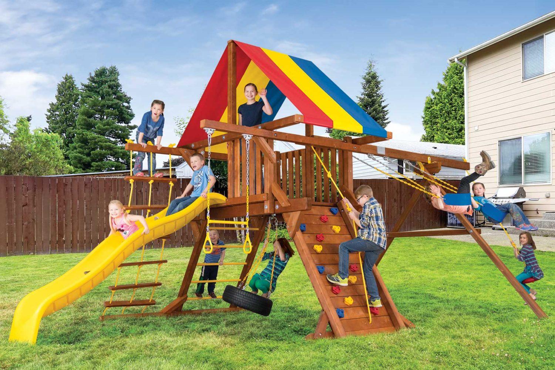 Sunshine Base Castle Pkg II Wooden Swing Set