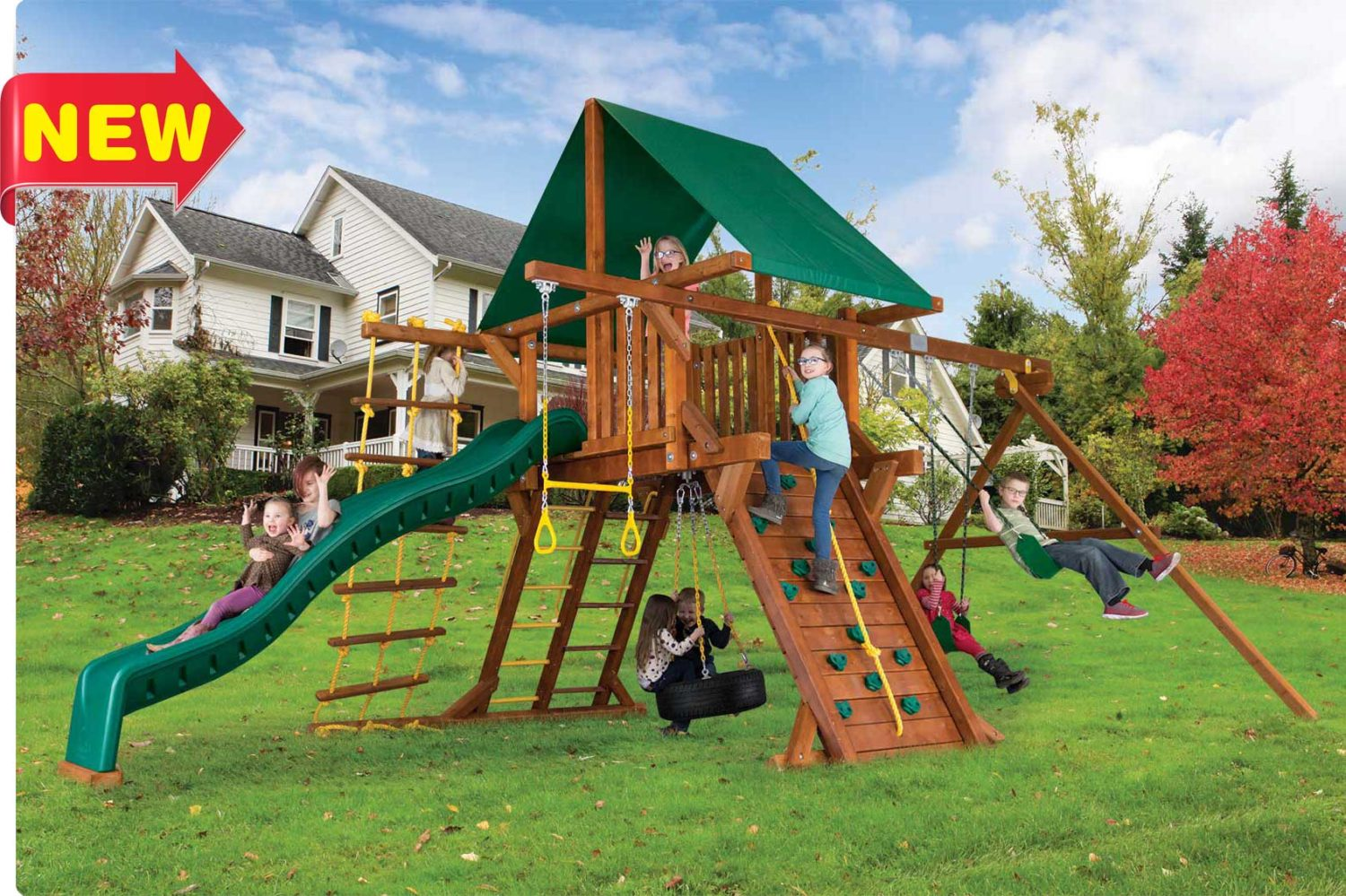 Sunshine Turbo Castle Pkg II Wooden Swing Sets
