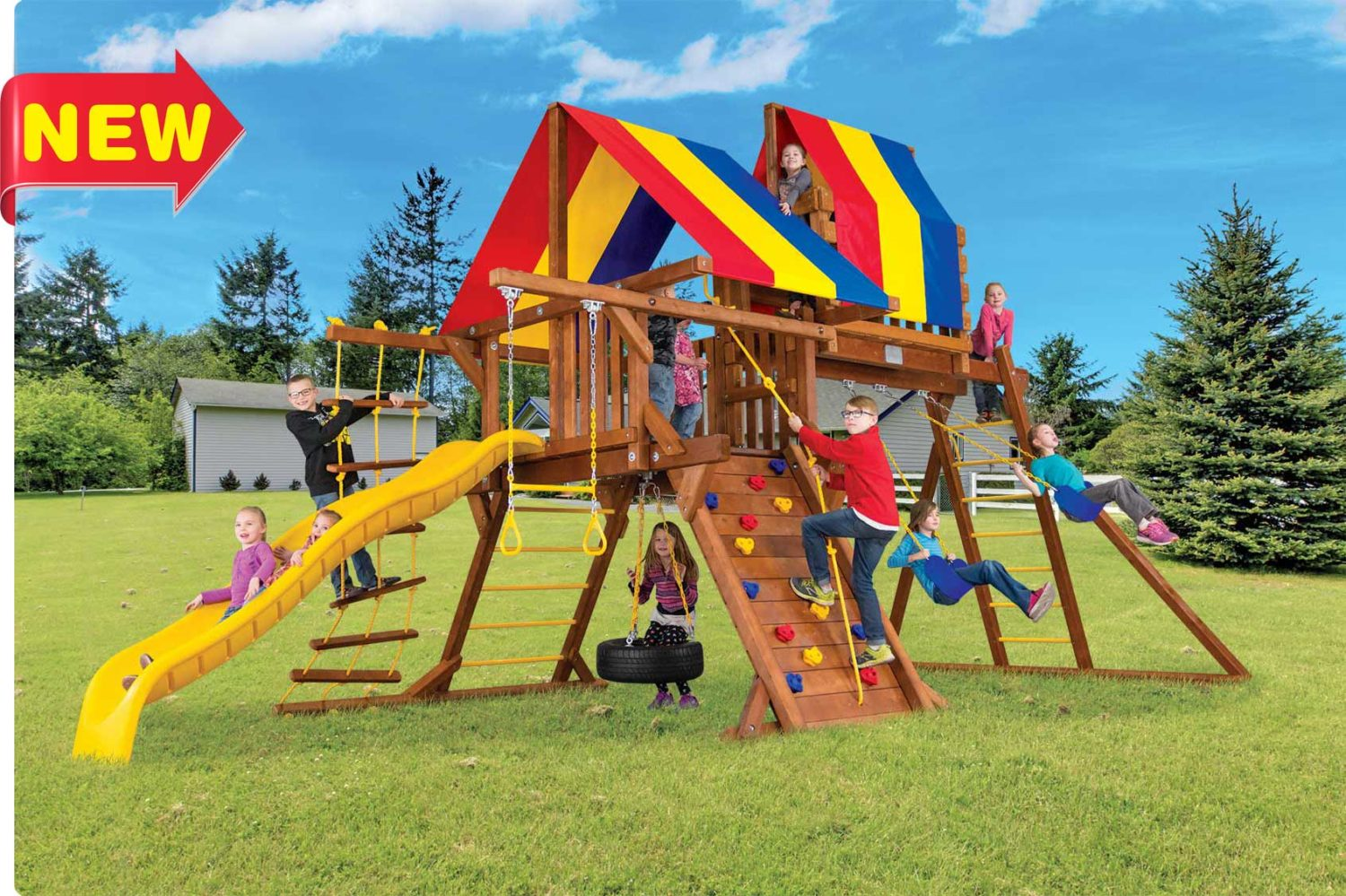 Sunshine Castle California Outdoor Playsets