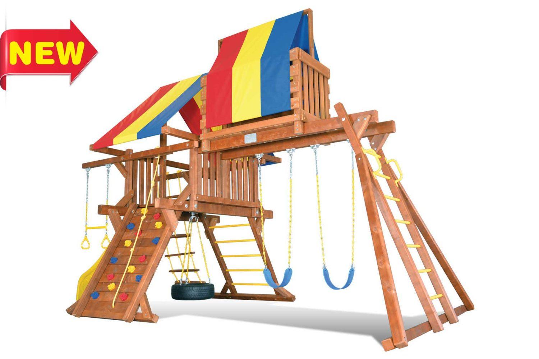 Sunshine Castle California Wooden Swing Sets