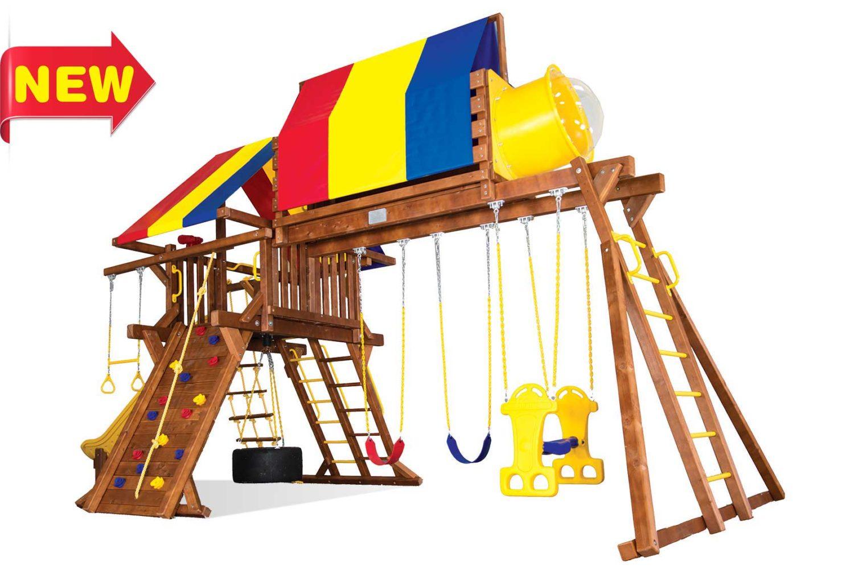 Sunshine Super Turbo Castle Wooden Swing Sets