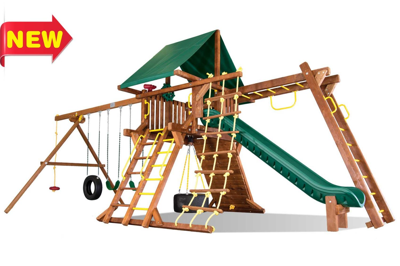 Sunshine Super Turbo Castle Pkg III Wooden Swing Set