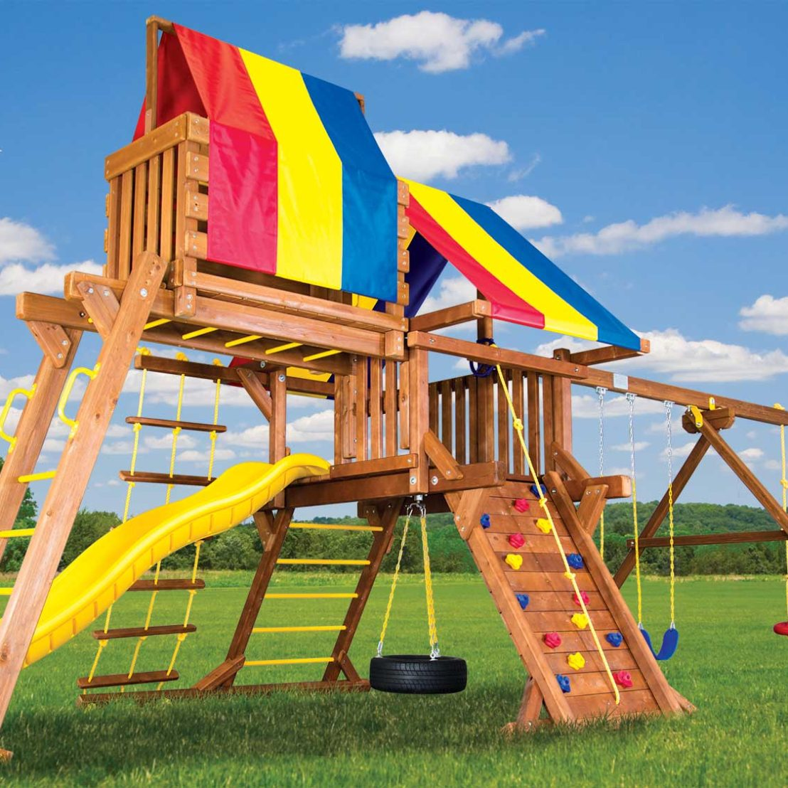 Sunshine Castle Pkg IV Wooden Swing Set