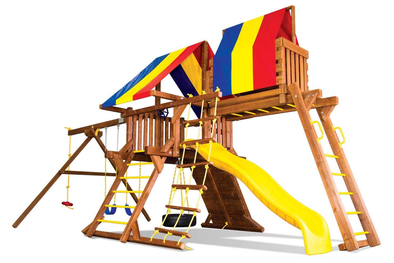 Sunshine Castle Pkg IV Wooden Swing Set