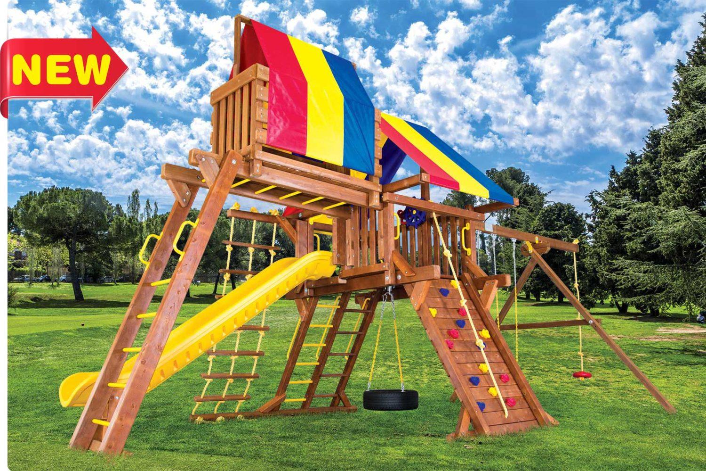 Sunshine Super Turbo Castle Pkg IV Wooden Swing Set