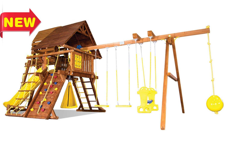 Sunshine Turbo Castle Pkg IV Wooden Swing Sets