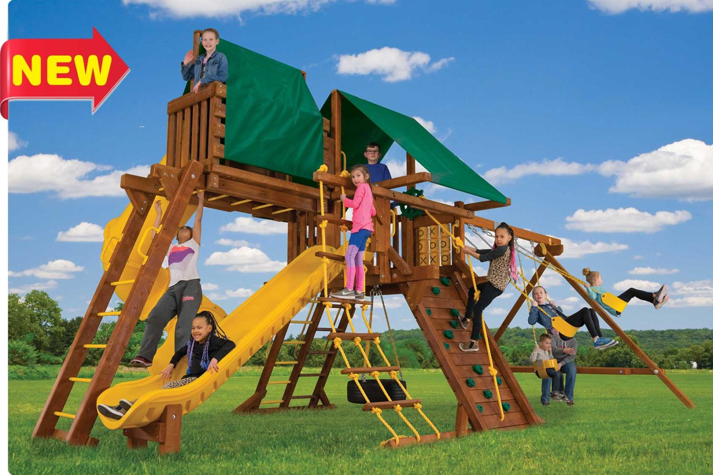 Sunshine Turbo Castle Pkg V Wooden Swing Set
