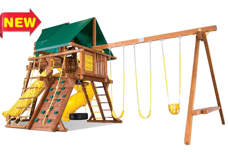 Sunshine Turbo Castle Pkg V Wooden Swing Sets