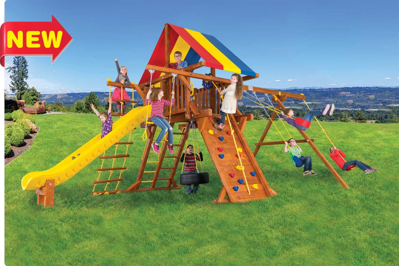 Sunshine Super Turbo Castle Pkg II Outdoor Playsets