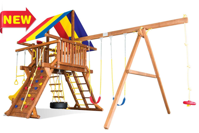 Sunshine Super Turbo Castle Pkg II Wooden Swing Sets