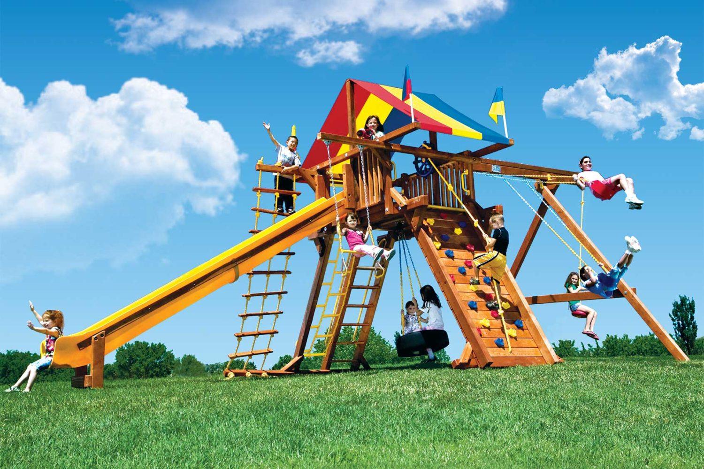 King Kong Feature Castle Pkg II Wooden Swing Set