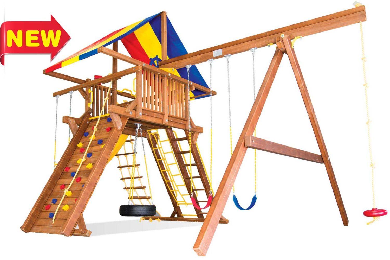 King Kong Castle Pkg II Wooden Swing Sets