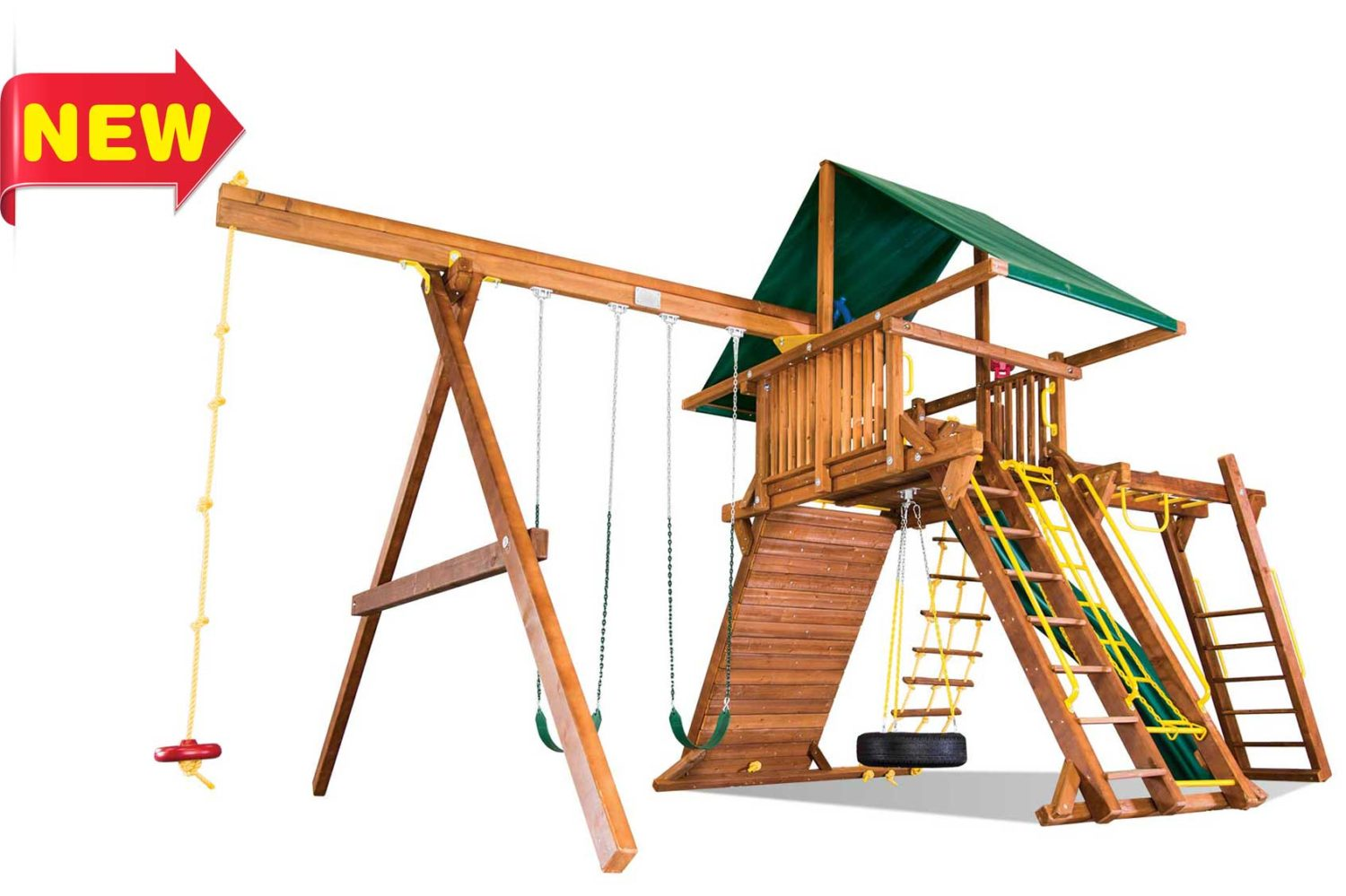 King Kong Castle Pkg III Wooden Swing Sets