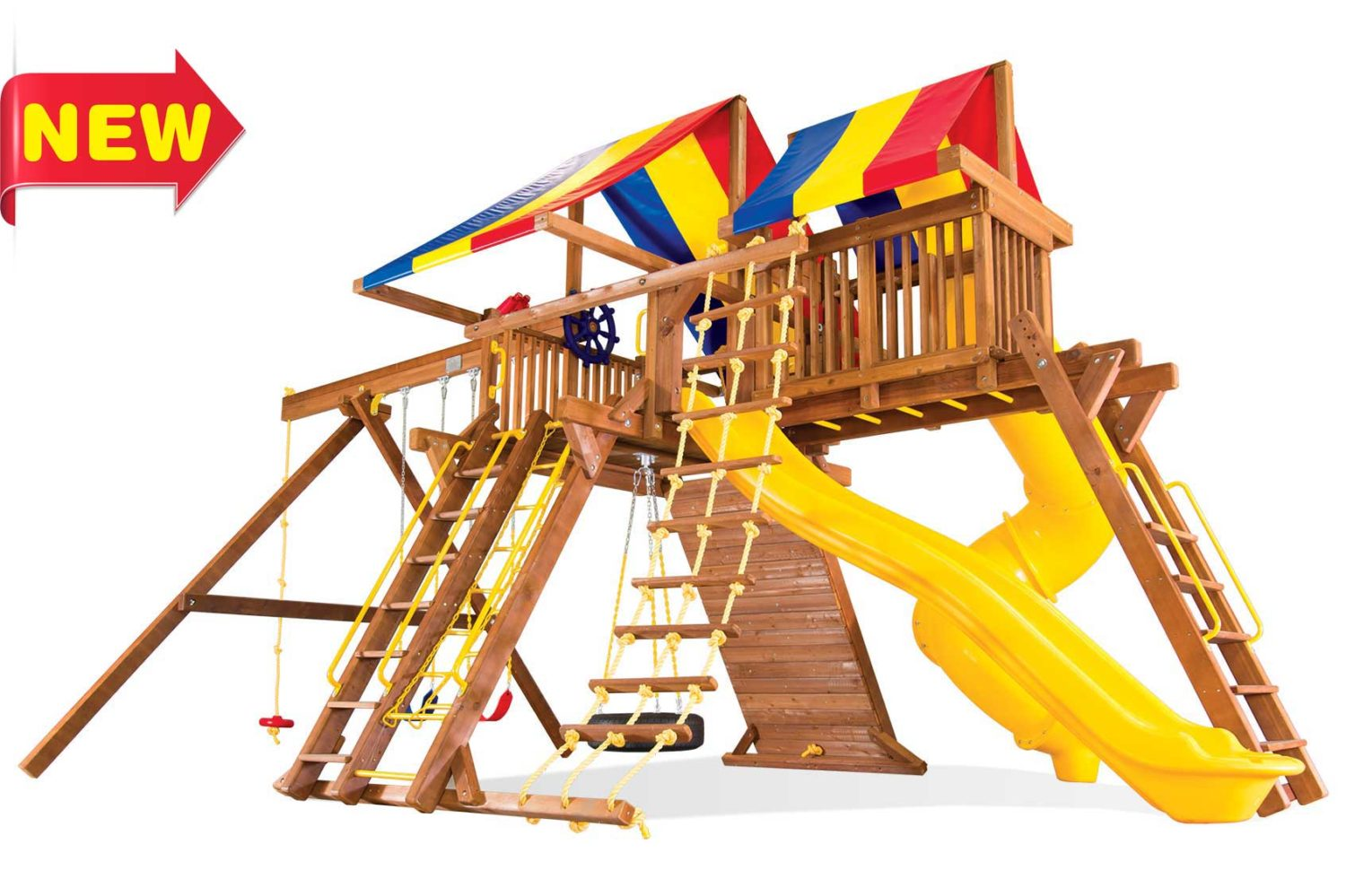 King Kong Castle Pkg V Wooden Swing Sets