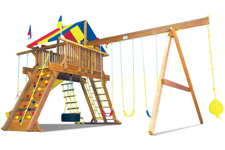 King Kong Castle Pkg II Loaded and Supersized Wooden Swing Set