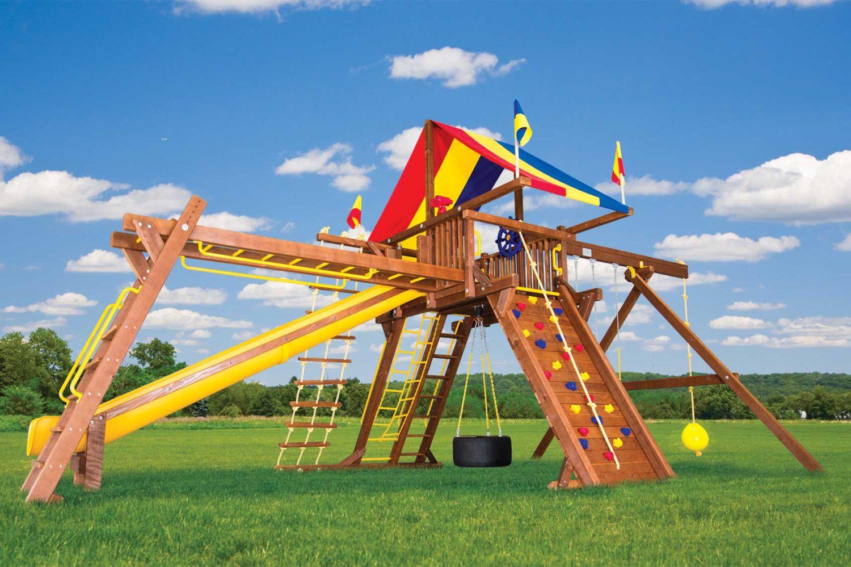 King Kong Castle Pkg III Loaded Wooden Swing Set