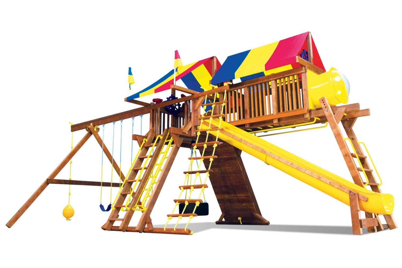 King Kong Castle Pkg IV Crown Jewel Wooden Swing Set