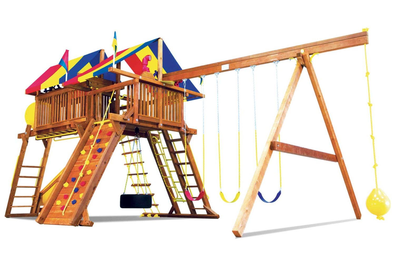 King Kong Castle Pkg IV Supersized Crown Jewel Wooden Swing Set