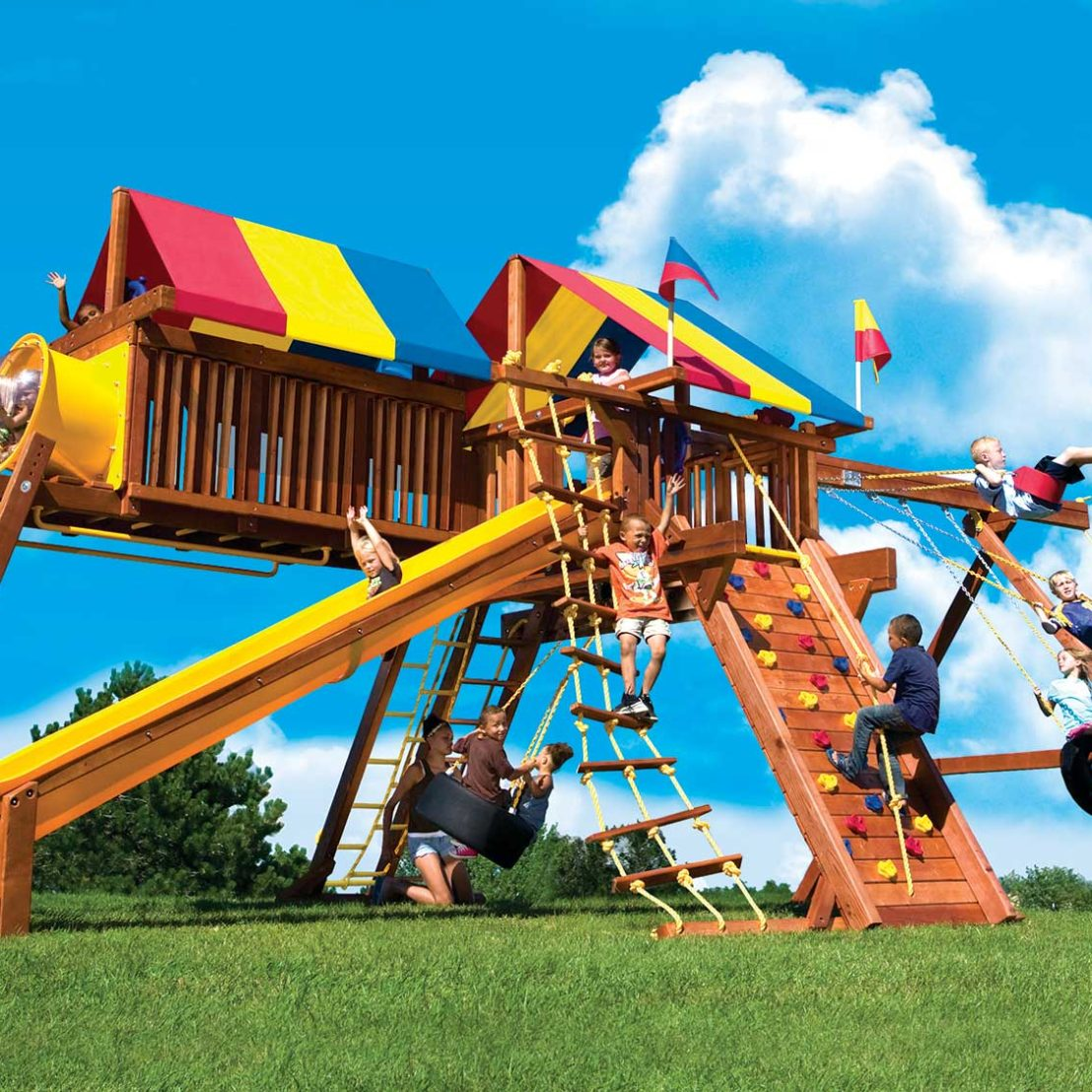 King Kong Castle Pkg IV Supersized Crown Jewel Wooden Swing Set
