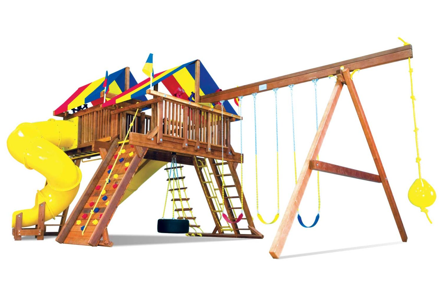 King Kong Castle Pkg V Supersized Grand Slam Wooden Swing Set
