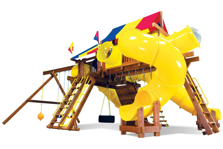 King Kong Castle TUBE CITY Wooden Swing Set