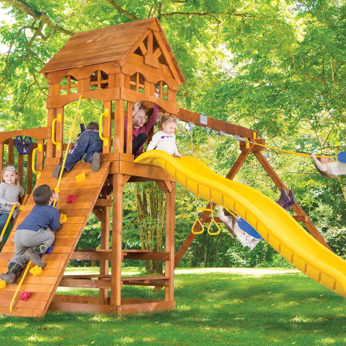 Fiesta Super Funhouse Wooden Swing Set