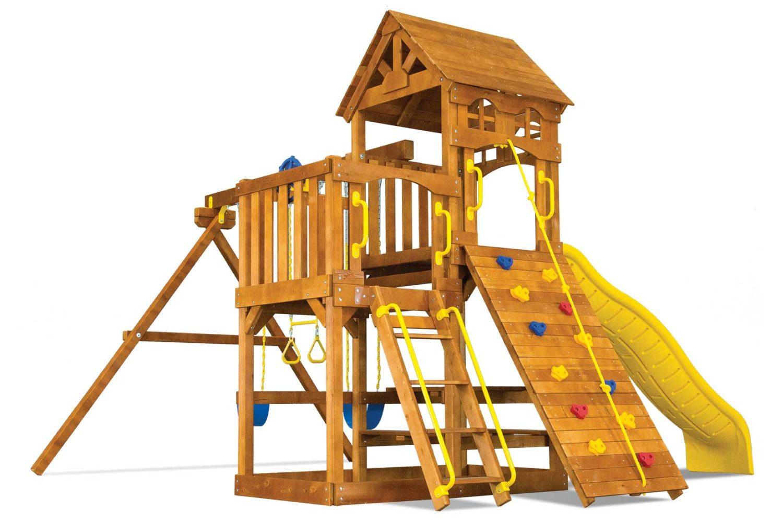 Fiesta Super Funhouse Wooden Swing Set