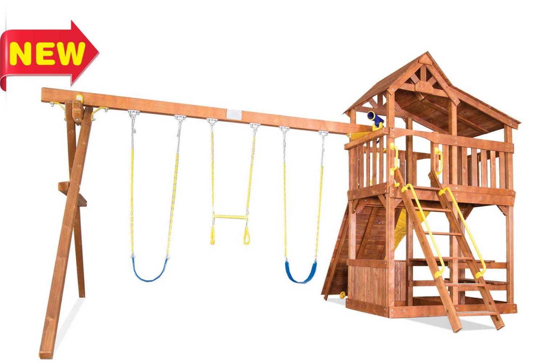 Fiesta Cottage Wooden Swing Sets