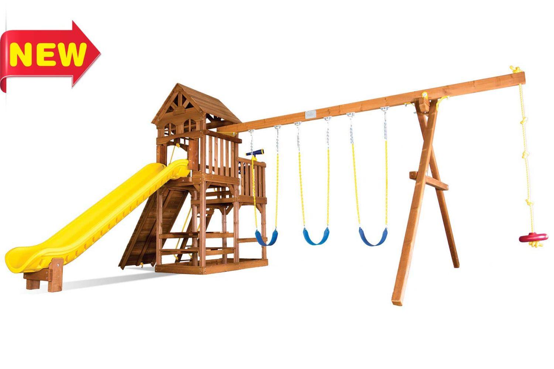 Fiesta Super Funhouse Deluxe Wooden Swing Sets