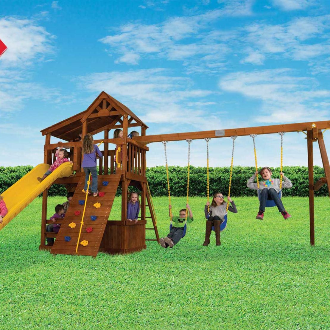 Fiesta Cottage Deluxe Outdoor Playsets
