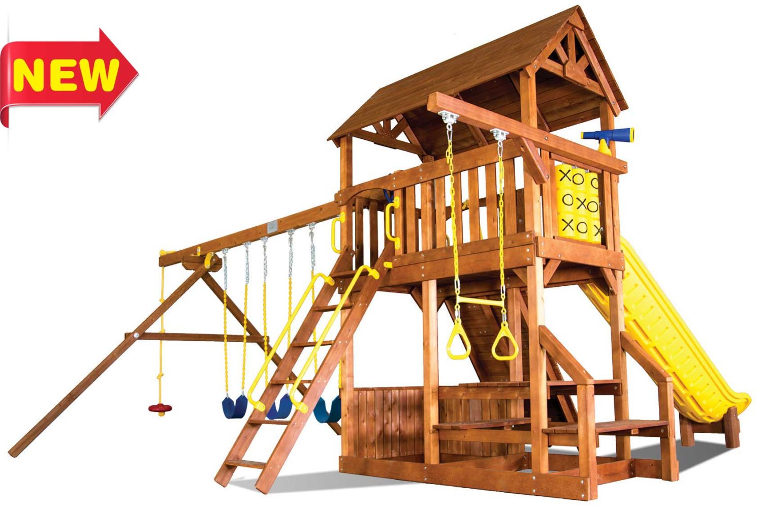 Fiesta Country Club Deluxe Wooden Swing Sets