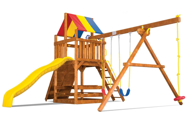 Fiesta Feature Clubhouse Pkg II Wooden Swing Set