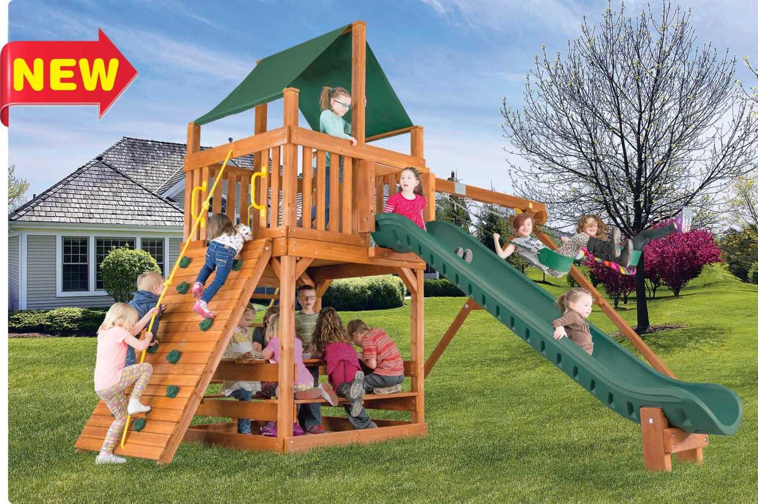 Fiesta Clubhouse Pkg II Outdoor Playsets