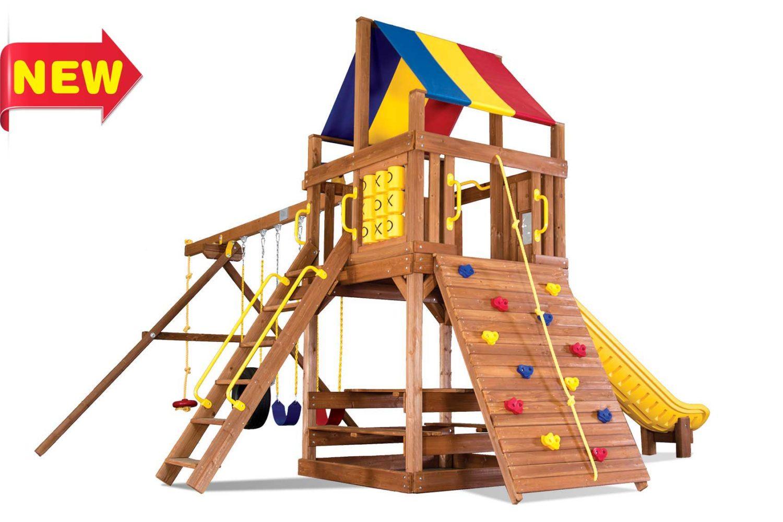 Fiesta Clubhouse Pkg II Wooden Swing Sets