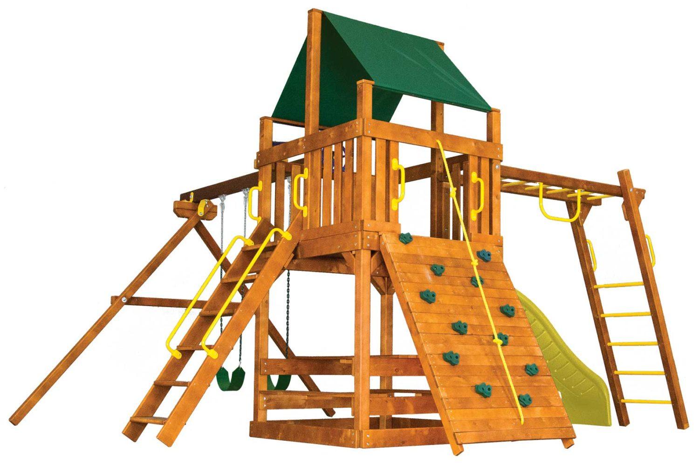 Fiesta Clubhouse Pkg III Loaded Wooden Swing Set